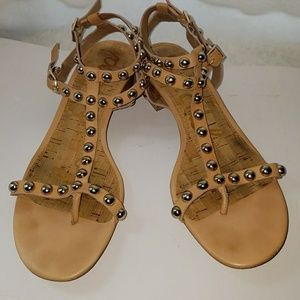 Sam Edelman gladiator tan studded sandal 8.5